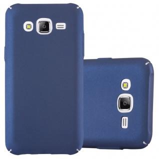 Cadorabo Hülle für Samsung Galaxy J3 / J3 DUOS 2016 in METALL BLAU - Hardcase Handyhülle aus Plastik gegen Kratzer und Stöße - Schutzhülle Bumper Ultra Slim Back Case Hard Cover