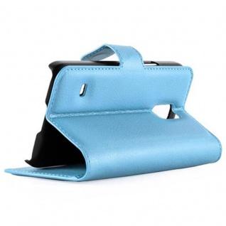 Cadorabo Hülle für Samsung Galaxy S5 MINI / S5 MINI DUOS in PASTEL BLAU - Handyhülle mit Magnetverschluss, Standfunktion und Kartenfach - Case Cover Schutzhülle Etui Tasche Book Klapp Style - Vorschau 4