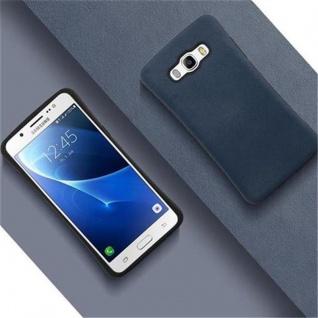 Cadorabo Hülle für Samsung Galaxy J5 2016 - Hülle in MEERES BLAU ? Small Waist Handyhülle mit rutschfestem Gummi-Rücken - Hard Case TPU Silikon Schutzhülle - Vorschau 4