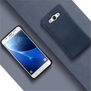 Cadorabo Hülle für Samsung Galaxy J5 2016 (6) - Hülle in MEERES BLAU - Small Waist Handyhülle mit rutschfestem Gummi-Rücken - Hard Case TPU Silikon Schutzhülle - Vorschau 4