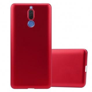Cadorabo Hülle für Huawei MATE 10 LITE in METALLIC ROT Handyhülle aus flexiblem TPU Silikon Silikonhülle Schutzhülle Ultra Slim Soft Back Cover Case Bumper
