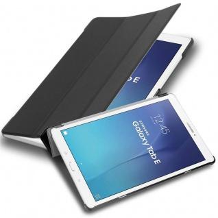 """Cadorabo Tablet Hülle für Samsung Galaxy Tab E (9, 6"""" Zoll) SM-T561 / T560 in SATIN SCHWARZ Ultra Dünne Book Style Schutzhülle OHNE Auto Wake Up und Standfunktion aus Kunstleder"""