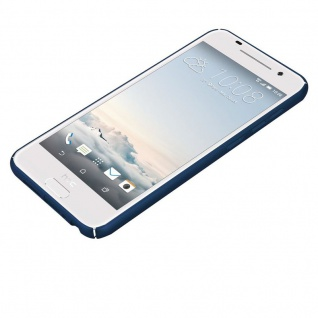 Cadorabo Hülle für HTC One A9 in METALL BLAU - Hardcase Handyhülle aus Plastik gegen Kratzer und Stöße - Schutzhülle Bumper Ultra Slim Back Case Hard Cover - Vorschau 3