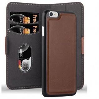 Cadorabo Hülle für Apple iPhone 6 / iPhone 6S Hülle in ANTIK BRAUN Handyhülle im 2-in-1 Design mit Standfunktion und Kartenfach Hard Case Book Etui Schutzhülle Tasche Cover