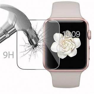 Cadorabo - Gehärtetes (Tempered) Glas Panzerglas Schutzfolie Displayschutzfolie für Apple Watch Series 1 & Apple Watch Series 2 Smartwatch iWatch 42mm Display Schutzglas 0, 3mm abgerundete Kanten ? HOCH-TRANSPARENT - Vorschau 3