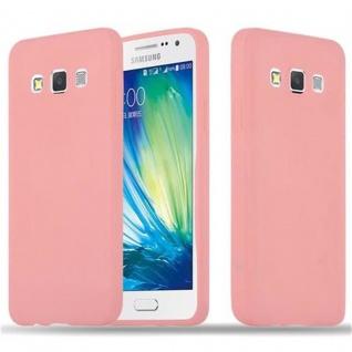 Cadorabo Hülle für Samsung Galaxy A3 2015 in CANDY ROSA - Handyhülle aus flexiblem TPU Silikon - Silikonhülle Schutzhülle Ultra Slim Soft Back Cover Case Bumper