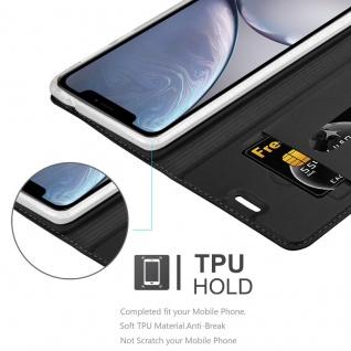 Cadorabo Hülle für Apple iPhone XS MAX in CLASSY SCHWARZ - Handyhülle mit Magnetverschluss, Standfunktion und Kartenfach - Case Cover Schutzhülle Etui Tasche Book Klapp Style - Vorschau 5