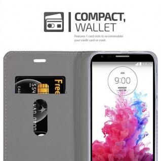 Cadorabo Hülle für LG G3 MINI / G3S in DUNKEL BLAU SCHWARZ - Handyhülle mit Magnetverschluss, Standfunktion und Kartenfach - Case Cover Schutzhülle Etui Tasche Book Klapp Style - Vorschau 5