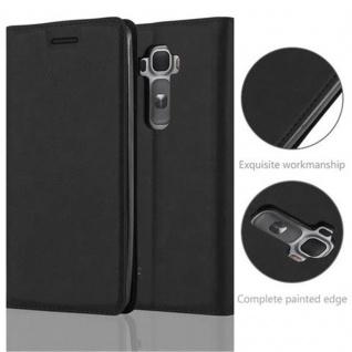 Cadorabo Hülle für LG FLEX 2 in NACHT SCHWARZ - Handyhülle mit Magnetverschluss, Standfunktion und Kartenfach - Case Cover Schutzhülle Etui Tasche Book Klapp Style - Vorschau 2