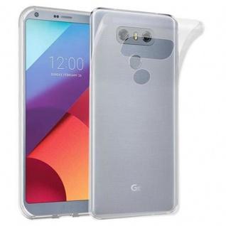 Cadorabo Hülle für LG G6 in VOLL TRANSPARENT - Handyhülle aus flexiblem TPU Silikon - Silikonhülle Schutzhülle Ultra Slim Soft Back Cover Case Bumper