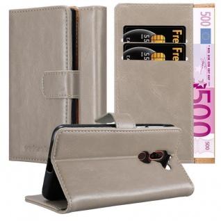 Cadorabo Hülle für Nokia 7 PLUS in CAPPUCCINO BRAUN ? Handyhülle mit Magnetverschluss, Standfunktion und Kartenfach ? Case Cover Schutzhülle Etui Tasche Book Klapp Style