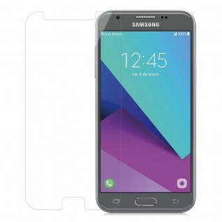 Cadorabo Panzer Folie für Samsung Galaxy J3 2017 - Schutzfolie in KRISTALL KLAR - Gehärtetes (Tempered) Display-Schutzglas in 9H Härte mit 3D Touch (RETAIL PACKAGING)