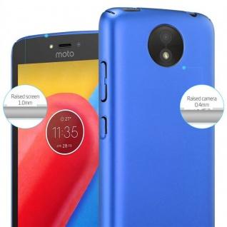 Cadorabo Hülle für Motorola MOTO C PLUS in METALL BLAU - Hardcase Handyhülle aus Plastik gegen Kratzer und Stöße - Schutzhülle Bumper Ultra Slim Back Case Hard Cover - Vorschau 4