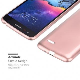 Cadorabo Hülle für LG K8 2017 in METALLIC ROSE GOLD - Handyhülle aus flexiblem TPU Silikon - Silikonhülle Schutzhülle Ultra Slim Soft Back Cover Case Bumper - Vorschau 5