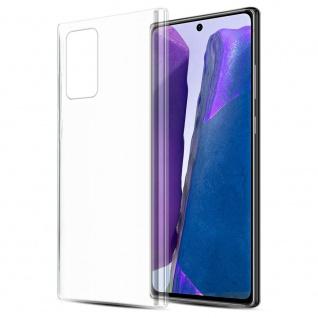 Cadorabo Hülle für Samsung Galaxy NOTE 20 in VOLL TRANSPARENT Handyhülle aus flexiblem TPU Silikon Silikonhülle Schutzhülle Ultra Slim Soft Back Cover Case Bumper