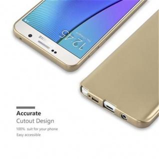 Cadorabo Hülle für Samsung Galaxy NOTE 5 in METALLIC GOLD - Handyhülle aus flexiblem TPU Silikon - Silikonhülle Schutzhülle Ultra Slim Soft Back Cover Case Bumper - Vorschau 2