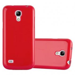 Cadorabo Hülle für Samsung Galaxy S4 MINI in JELLY ROT ? Handyhülle aus flexiblem TPU Silikon ? Silikonhülle Schutzhülle Ultra Slim Soft Back Cover Case Bumper