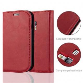 Cadorabo Hülle für Samsung Galaxy S3 MINI in APFEL ROT - Handyhülle mit Magnetverschluss, Standfunktion und Kartenfach - Case Cover Schutzhülle Etui Tasche Book Klapp Style - Vorschau 2