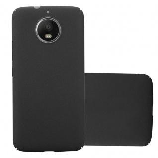 Cadorabo Hülle für Motorola MOTO G5S in FROSTY SCHWARZ Hardcase Handyhülle aus Plastik gegen Kratzer und Stöße Schutzhülle Bumper Ultra Slim Back Case Hard Cover
