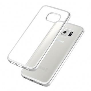 Cadorabo Hülle für Samsung Galaxy S6 EDGE - Hülle in TRANSPARENT mit CHROM SILBER ? Handyhülle aus TPU Silikon im Chrom Design - Silikonhülle Schutzhülle Ultra Slim Soft Back Cover Case Bumper - Vorschau 4