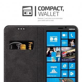 Cadorabo Hülle für Nokia Lumia 920 in SCHWARZ BRAUN ? Handyhülle mit Magnetverschluss, Standfunktion und Kartenfach ? Case Cover Schutzhülle Etui Tasche Book Klapp Style - Vorschau 3