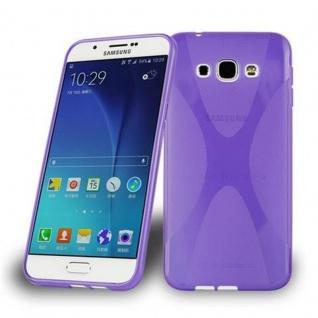 Cadorabo Hülle für Samsung Galaxy A8 2015 in FLIEDER VIOLETT - Handyhülle aus flexiblem TPU Silikon - Silikonhülle Schutzhülle Ultra Slim Soft Back Cover Case Bumper