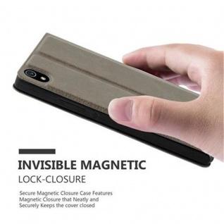 Cadorabo Hülle für Huawei P7 in STEIN BRAUN - Handyhülle mit Magnetverschluss, Standfunktion und 2 Sichtfenstern - Case Cover Schutzhülle Etui Tasche Book Klapp Style - Vorschau 5