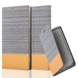 Cadorabo Hülle für Sony Xperia XA1 ULTRA in HELL GRAU BRAUN - Handyhülle mit Magnetverschluss, Standfunktion und Kartenfach - Case Cover Schutzhülle Etui Tasche Book Klapp Style