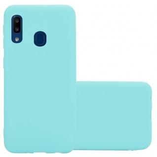 Cadorabo Hülle für Samsung Galaxy A20e in CANDY BLAU - Handyhülle aus flexiblem TPU Silikon - Silikonhülle Schutzhülle Ultra Slim Soft Back Cover Case Bumper