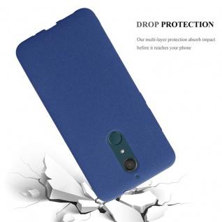 Cadorabo Hülle für WIKO VIEW XL in FROST DUNKEL BLAU - Handyhülle aus flexiblem TPU Silikon - Silikonhülle Schutzhülle Ultra Slim Soft Back Cover Case Bumper - Vorschau 3