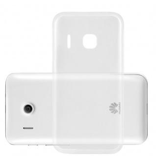 Cadorabo Hülle für Huawei ASCEND Y320 in VOLL TRANSPARENT - Handyhülle aus flexiblem TPU Silikon - Silikonhülle Schutzhülle Ultra Slim Soft Back Cover Case Bumper