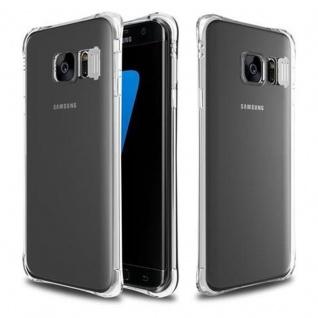 Cadorabo Hülle für Samsung Galaxy S7 EDGE - Hülle in STAR TRANSPARENT - Handyhülle aus TPU Silikon im LED-Blitzlicht-Design - Silikonhülle Schutzhülle Ultra Slim Soft Back Cover Case Bumper