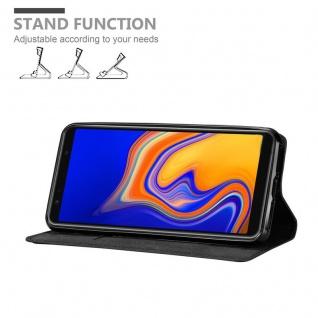 Cadorabo Hülle für Samsung Galaxy A6S in NACHT SCHWARZ - Handyhülle mit Magnetverschluss, Standfunktion und Kartenfach - Case Cover Schutzhülle Etui Tasche Book Klapp Style - Vorschau 4