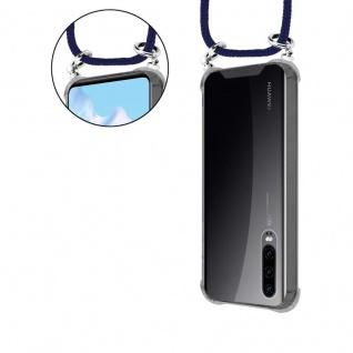 Cadorabo Handy Kette für Huawei P30 in TIEF BLAU - Silikon Necklace Umhänge Hülle mit Silber Ringen, Kordel Band Schnur und abnehmbarem Etui - Schutzhülle - Vorschau 5