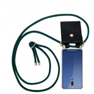 Cadorabo Handy Kette für Huawei MATE 10 LITE in ARMEE GRÜN - Silikon Necklace Umhänge Hülle mit Gold Ringen, Kordel Band Schnur und abnehmbarem Etui ? Schutzhülle