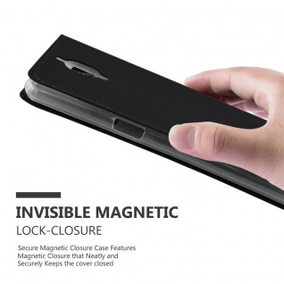 Cadorabo Hülle für OnePlus 3 / 3T in CLASSY SCHWARZ - Handyhülle mit Magnetverschluss, Standfunktion und Kartenfach - Case Cover Schutzhülle Etui Tasche Book Klapp Style - Vorschau 5