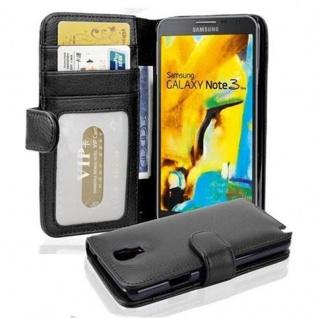 Cadorabo Hülle für Samsung Galaxy NOTE 3 NEO in OXID SCHWARZ ? Handyhülle mit Magnetverschluss und 3 Kartenfächern ? Case Cover Schutzhülle Etui Tasche Book Klapp Style