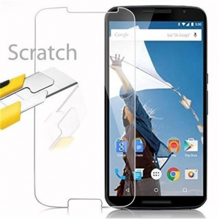 Cadorabo Panzer Folie für Motorola Google NEXUS 6 / 6X - Schutzfolie in KRISTALL KLAR - Gehärtetes (Tempered) Display-Schutzglas in 9H Härte mit 3D Touch Kompatibilität - Vorschau 2