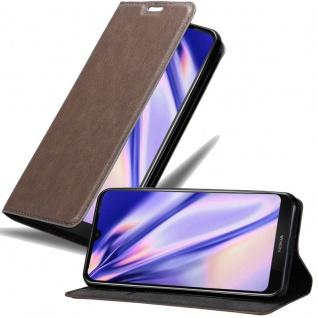 Cadorabo Hülle für Nokia 4.2 in KAFFEE BRAUN Handyhülle mit Magnetverschluss, Standfunktion und Kartenfach Case Cover Schutzhülle Etui Tasche Book Klapp Style