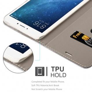 Cadorabo Hülle für Xiaomi Mi MAX 2 in HELL GRAU BRAUN - Handyhülle mit Magnetverschluss, Standfunktion und Kartenfach - Case Cover Schutzhülle Etui Tasche Book Klapp Style - Vorschau 3