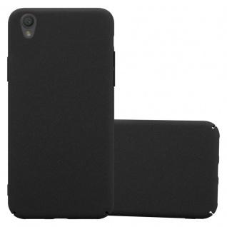 Cadorabo Hülle für Sony Xperia L1 in FROSTY SCHWARZ - Hardcase Handyhülle aus Plastik gegen Kratzer und Stöße - Schutzhülle Bumper Ultra Slim Back Case Hard Cover