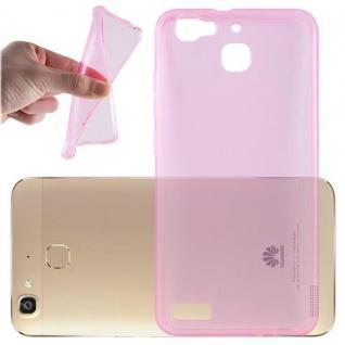 Cadorabo Hülle für Huawei G8 MINI / Enjoy 5S in TRANSPARENT PINK - Handyhülle aus flexiblem TPU Silikon - Silikonhülle Schutzhülle Ultra Slim Soft Back Cover Case Bumper