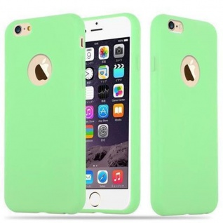 Cadorabo Hülle für Apple iPhone 6 PLUS / iPhone 6S PLUS in CANDY PASTELL GRÜN Handyhülle aus flexiblem TPU Silikon Silikonhülle Schutzhülle Ultra Slim Soft Back Cover Case Bumper