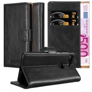 Cadorabo Hülle für OnePlus 5T in GRAPHIT SCHWARZ Handyhülle mit Magnetverschluss, Standfunktion und Kartenfach Case Cover Schutzhülle Etui Tasche Book Klapp Style