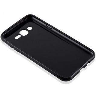 Cadorabo Hülle für Samsung Galaxy J7 2015 in SCHWARZ - Handyhülle aus flexiblem TPU Silikon - Silikonhülle Schutzhülle Ultra Slim Soft Back Cover Case Bumper - Vorschau 3