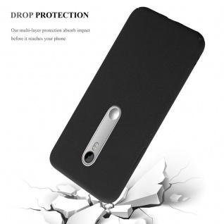 Cadorabo Hülle für Motorola MOTO G3 in FROSTY SCHWARZ - Hardcase Handyhülle aus Plastik gegen Kratzer und Stöße - Schutzhülle Bumper Ultra Slim Back Case Hard Cover - Vorschau 4