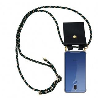 Cadorabo Handy Kette für Huawei MATE 10 LITE in CAMOUFLAGE - Silikon Necklace Umhänge Hülle mit Gold Ringen, Kordel Band Schnur und abnehmbarem Etui ? Schutzhülle