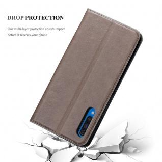 Cadorabo Hülle für Samsung Galaxy A50 in KAFFEE BRAUN - Handyhülle mit Magnetverschluss, Standfunktion und Kartenfach - Case Cover Schutzhülle Etui Tasche Book Klapp Style - Vorschau 5