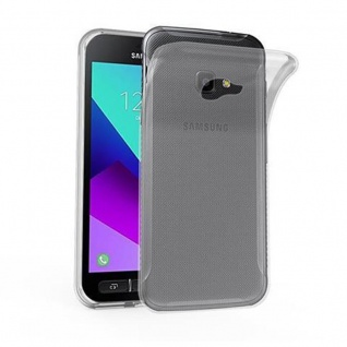 Cadorabo Hülle für Samsung Galaxy Xcover 4 in VOLL TRANSPARENT - Handyhülle aus flexiblem TPU Silikon - Silikonhülle Schutzhülle Ultra Slim Soft Back Cover Case Bumper