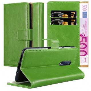 Cadorabo Hülle für Nokia 8 2017 in GRAS GRÜN ? Handyhülle mit Magnetverschluss, Standfunktion und Kartenfach ? Case Cover Schutzhülle Etui Tasche Book Klapp Style